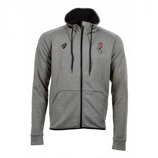 BCFC 19/20 LEI Light Grey Cotton Zip Hood Yth