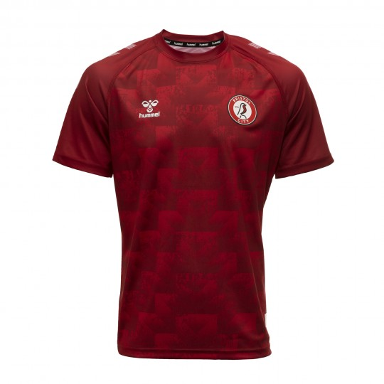20/21 BCFC HOME WARM UP TEE -CITY RED -YOUTH