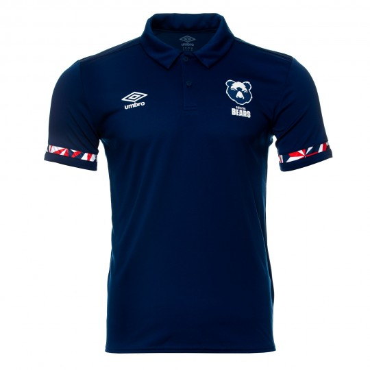 20/21 Bristol Bears Poly Polo (Navy) Adult