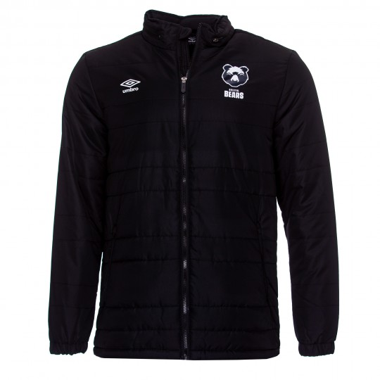 20/21 Bristol Bears Bench Jacket- Black Adult