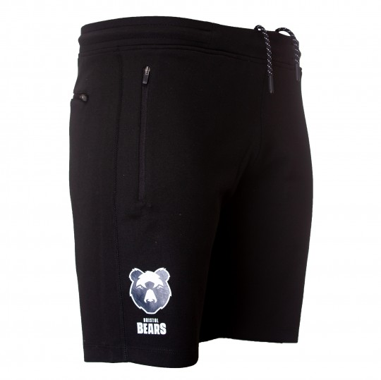 20/21 Bristol Bears Fleece Short - Black Youth