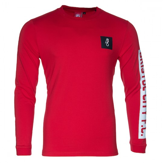 BCFC Long Sleeved Patch Tee - Red