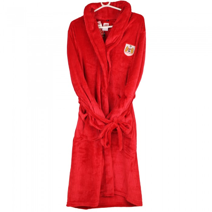 BCFC Red Adult Ribbed Robe
