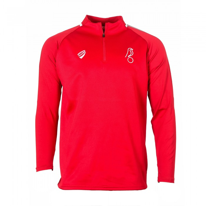 BCFC 19/20 TRG Red Player 1/4 Zip Yth