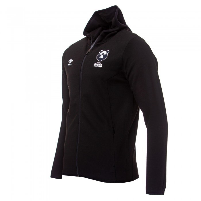 20/21 Bristol Bears Fleece Hood - Black Youth