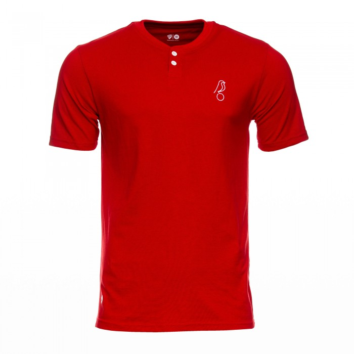 2021 CITY Red Henley Polo- Adult