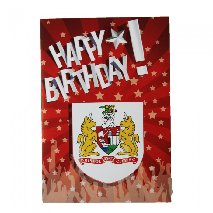 BCFC Plain Crest Happy Birthday Card