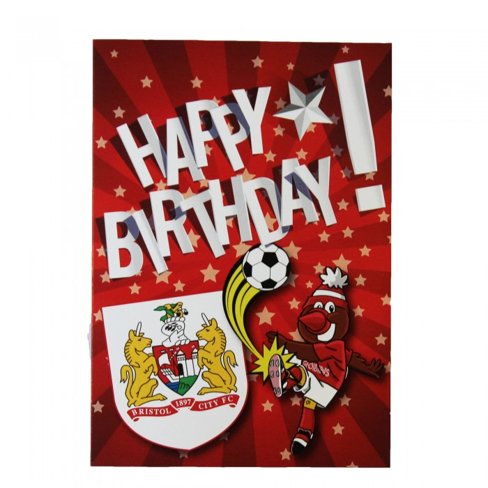 BCFC Happy Birthday Kicking Scrumpy Card